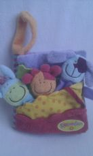 Adorable Baby 'Blossom Farm' Finger Puppets Book Plush Pram Toy